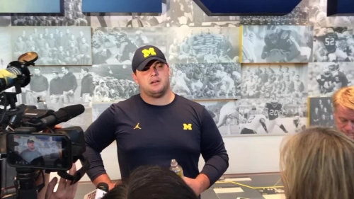 Michigan football offensive lineman Ben Bredeson: Shea Patterson's a funny guy