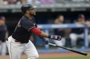 Cleveland Indians' Edwin Encarnacion leaves game with sore left arm
