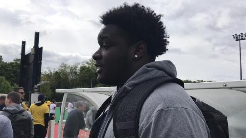 Michigan football's James Hudson showing his growth at tackle