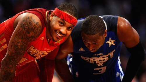 Dwyane Wade reacts to Carmelo Anthony being trolled on Twitter