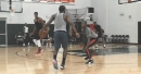 Terry Rozier battles John Wall during scrimmage