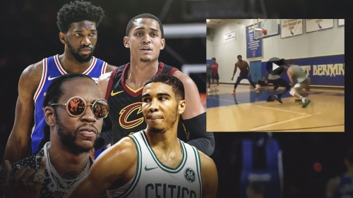 Video: Joel Embiid, Jayson Tatum, Jordan Clarkson play pick-up game with 2 Chainz