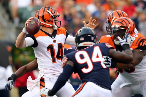 Film room: Solid protection and placement for Andy Dalton vs the Bears