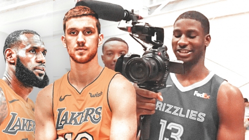 Lakers' Svi Mykhailiuk gets teased about LeBron James by Jaren Jackson Jr.