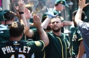 Jed Lowrie reaches milestone as A's get series win over Angels