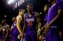 Suns rookie Deandre Ayton drew himself dunking on Joel Embiid