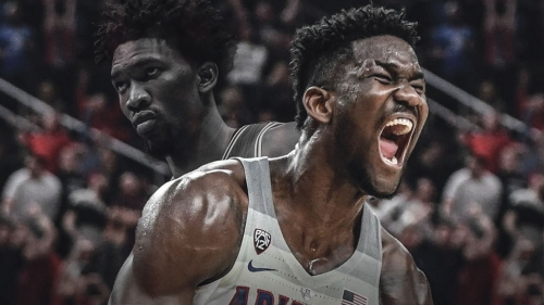 Joel Embiid reacts to Deandre Ayton's disrespectful drawing