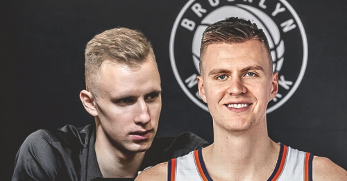 Kristaps Porzingis is giving tips to Nets rookie Dzanan Musa