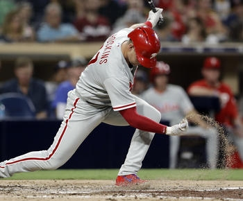 Rhys Hoskins, Carlos Santana struggling offensively as Phillies limp home to host Red Sox
