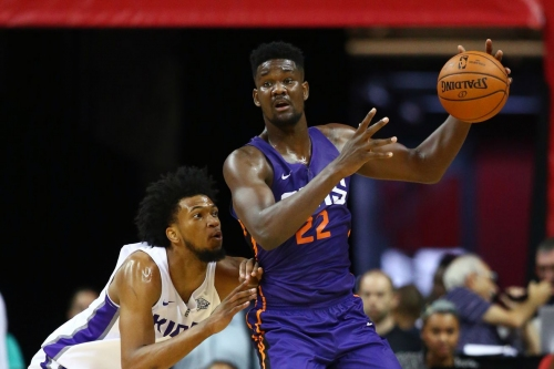 Deandre Ayton clowns Joel Embiid with new Panini America basketball card