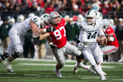 Michigan State football wants more from OTs Cole Chewins, Luke Campbell