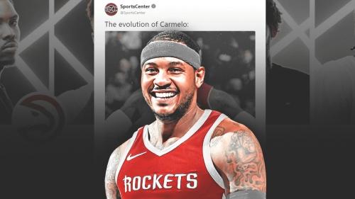 Hawks news: Atlanta Twitter takes hilarious jab at SportsCenter graphic of Rockets' Carmelo Anthony