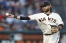 Brandon Crawford leaves game after collision in left field
