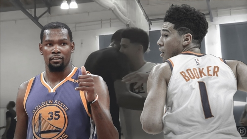 Kevin Durant teams up with Devin Booker at UCLA