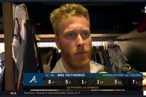 Ronald Acuna, Mike Foltynewicz discuss Braves' doubleheader sweep