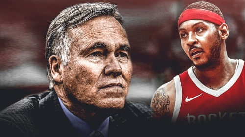 Mike D'Antoni says it 'doesn't really matter' if Carmelo Anthony starts or comes off bench