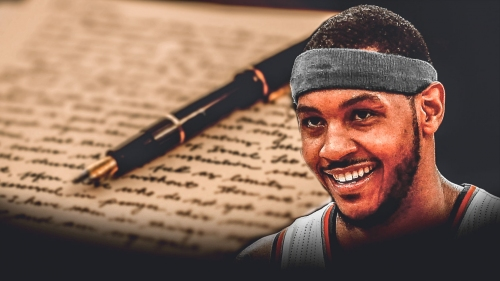 Carmelo Anthony pens thank you letter for Thunder fans