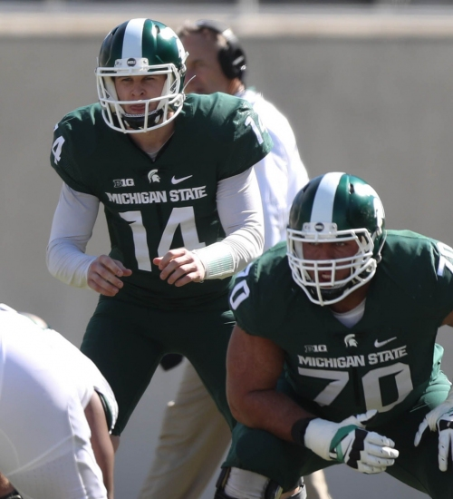 Mark Dantonio: Tyler Higby is Michigan State's top center after scrimmage