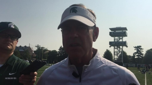 Michigan State coach Mark Dantonio on first scrimmage