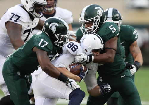 Michigan State's vacant linebacker job has four potential suitors