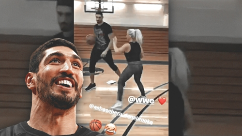 Enes Kanter goes one-on-one with WWE Diva Dana Brooke