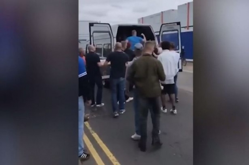 Watch: Villa fans and Wigan supporters clash in shocking footage