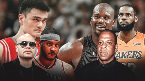 15 years ago LeBron James, Shaq and Jay-Z vs. Carmelo Anthony, Yao Ming and Fat Joe almost happened