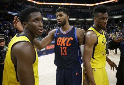Victor Oladipo owns better odds to win MVP than Paul George