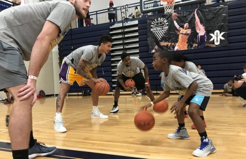 Lakers News: Kyle Kuzma Distributes Backpacks With Gifts And School Supplies At Basketball Camp In Flint, Mich.