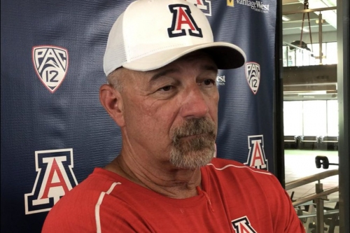 """VIDEO: Arizona OC Noel Mazzone on Khalil Tate, backup QBs, tight ends, and """"that God dang No. 7"""""""