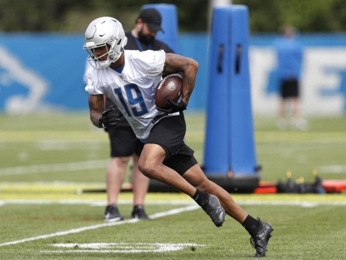 Detroit Lions receiver Kenny Golladay has looked sharp in two practice this week against the New York Giants and one of his old foes (USA Today Sports)