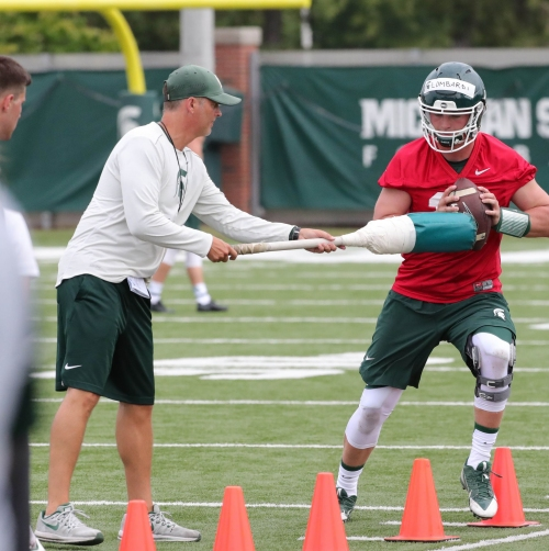 Michigan State football QBs expect offense to grow in next scrimmage