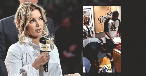 Lakers news: Jeanie Buss gives LeBron James jerseys to Dodgers players