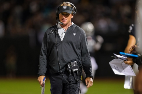 Jon Gruden frustrated at having to play Rams twice in the next month