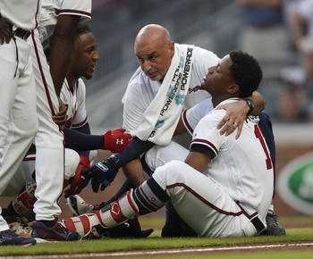 MLB roundup: Ronald Acuna hit by first pitch, Braves top Marlins 5-2