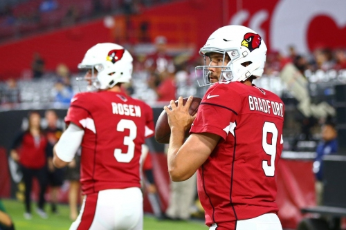 Balancing Sam Bradford and Josh Rosen as the Cardinals prepare for the Saints