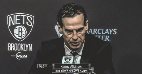 Nets coach Kenny Atkinson says 'tanking is not a word we use'