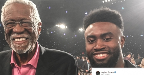 Bill Russell is perplexed by Jaylen Brown's Twitter handle