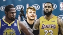 Mavs' Luka Doncic calls LeBron James his idol, picks Lakers star for MVP