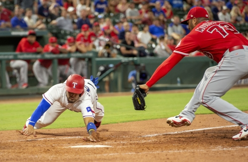 Angels start strong but fade at the finish in loss to Rangers