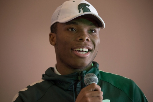 Michigan State freshman Kalon Gervin competing for cornerback job