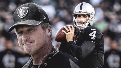 Raiders coach Jon Gruden says Derek Carr knows the offense better than himself