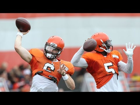Watch Tyrod Taylor and Baker Mayfield prepare for the Browns vs. Bills