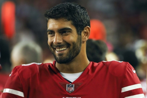 Jimmy Garoppolo talks offensive line rotation, two-minute drill, deep ball