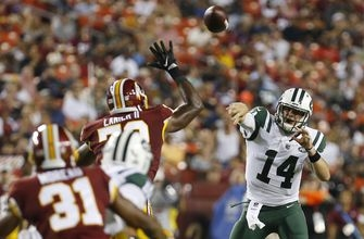 Redskins make Darnold look like rookie in 15-13 win over Jets