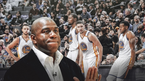 Magic Johnson unfazed by the Golden State Warriors