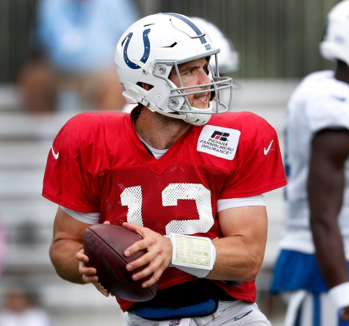 Indianapolis Colts' Andrew Luck mic'd up during training camp