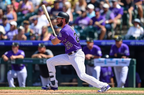 Now healthy again and consistently in the Rockies' lineup, young outfielder David Dahl is doing damage