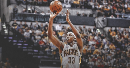 Pacers' Myles Turner working on 3-point shot