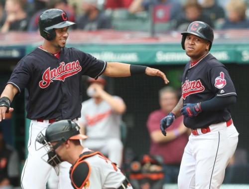 Jose Ramirez, Carlos Carrasco lead Cleveland Indians to 2-1 win against Baltimore Orioles